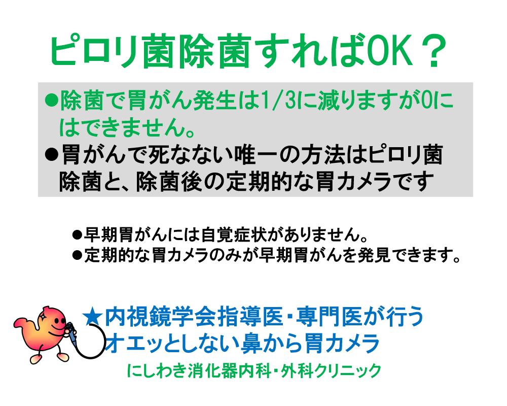 ピロリ菌除菌すればOK?
